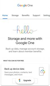 Google One App   Cloud Storage, Automatic Backup 1