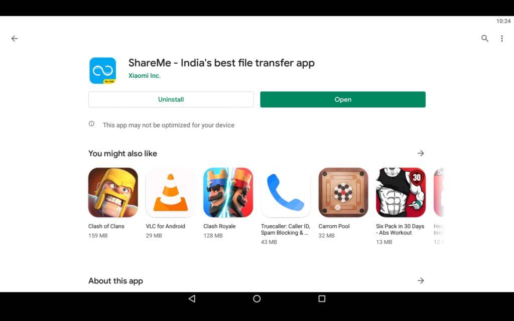 Open File Transfer App