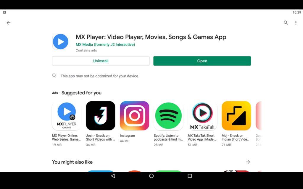 Open Video Player App